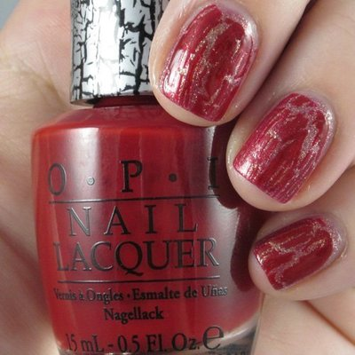 OPI Discontinue Color Nail Polish Red Shatter NL E55 nl1