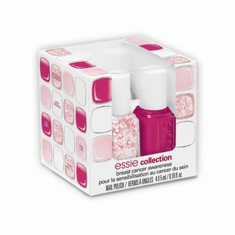 Essie Nail Polish 2014 Breast Cancer Awareness Collection 4 Mini Bottles Cube