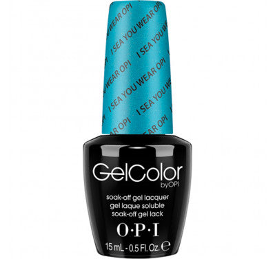 Opi gelcolor soak off gel polish  I Sea You Wear OPI A73 0.5 oz 15 ml np5