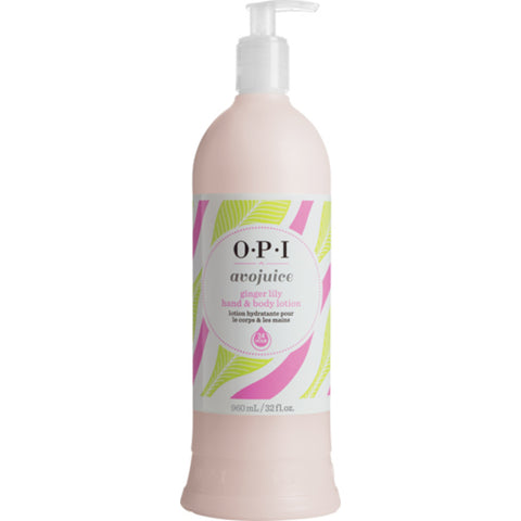 OPI Hand & Body Lotion Avojuice Ginger Lily 32oz/960ml