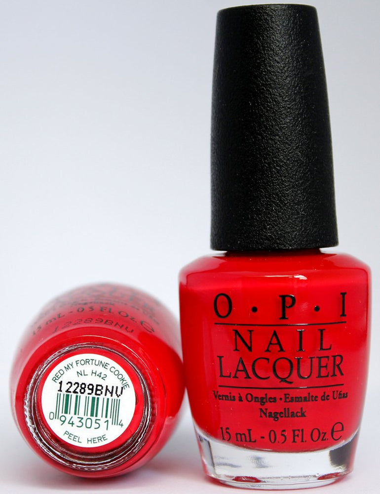 OPI Discontinue Color Nail Polish Red My Fortune Cookie NL H42 nl1