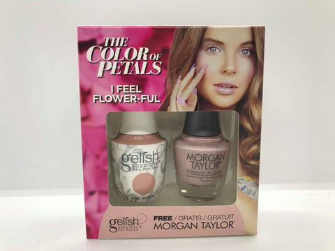 GELISH Gel Polish Nail Lacquer Duo The Color of Petals I Feel Flower-ful 1110342
