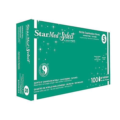StarMed® Select Nitrile Exam Gloves size Small