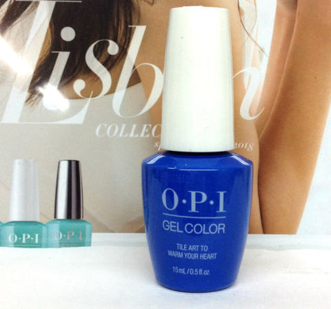 OPI GELCOLOR LISBON COLLECTION SPRING 2018 Tile Art To Warm Your Heart GCL25