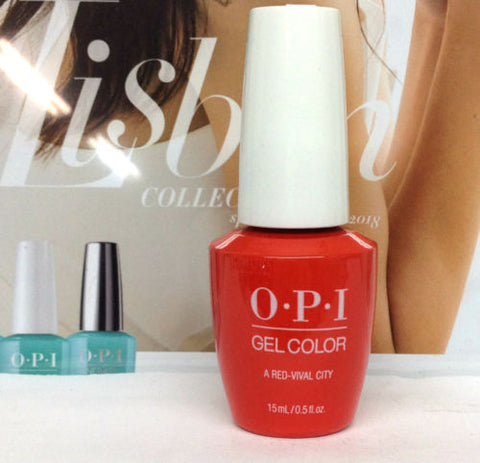 OPI GELCOLOR LISBON COLLECTION SPRING 2018 A Red-vival City GCL22
