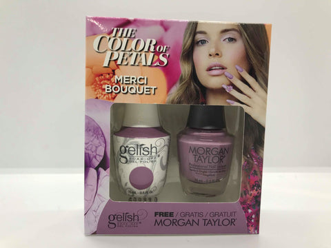 GELISH Gel Polish Nail Lacquer Duo The Color of Petals Merci Bouquet 1110340