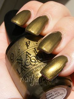 OPI  Discontinue Color Nail Polish Greenwich Green NL N02