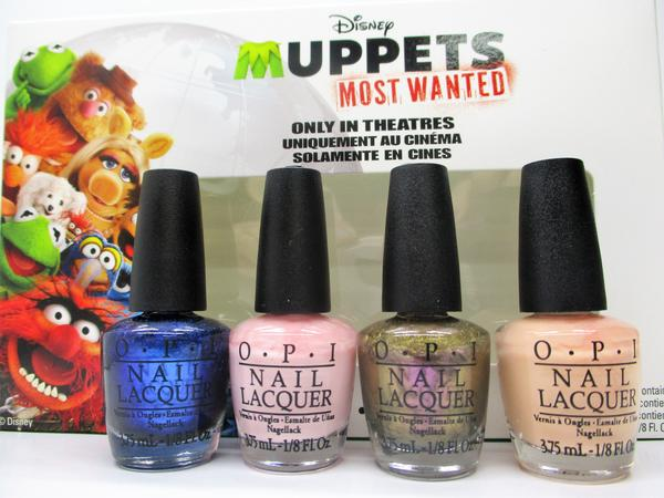 "O.P.I. Nail Lacquer ""Muppets Most Wanted"" Minis Set of 4"