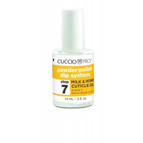 CUCCIO Pro Powder Polish Dip Nail Gels .5 oz Step 7 MILK & HONEY CUTICLE OIL