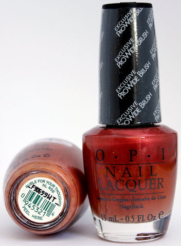 OPI Discontinue Color Nail Polish Ruble for Your Thoughts NL R56 nl1