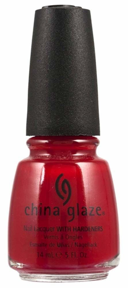 China Glaze Nail Polish PAINT THE TOWN RED 554 0.5 oz