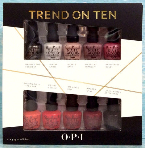 OPI TREND ON TEN 10pcs O.P.I Mini Kit Holiday 2014: 2 Set of 5 Packs Nail Gift