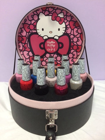 OPI Hello Kitty 9pcs Nail Polish Set Hat Box Case*Limited Edition* PP5