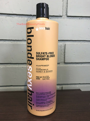 BLONDE SEXY HAIR SULFATE-FREE BRIGHT BLONDE VIOLET SHAMPOO - 33.8 OZ
