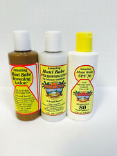 Maui Babe Beach Pack Trio - Browning Lotion, After Sun Care & SPF 30 - 4oz Each