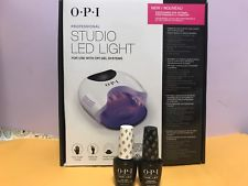 2017 Opi new studio led light GL901 Added Fan+OPIGel base 0.5 +Gel Top 0.5 oz pp5
