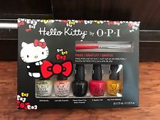 HELLO KITTY BY OPI 5 PIECE NAIL POLISH MINI SET NEW pp5