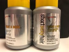 2 Short Sexy Hair What A Body Ultra Bodifying Blow Dry Hair Gel 6.8 oz 200ml pp5