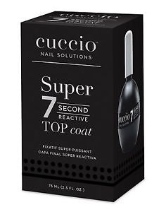 Cuccio Super 7 Second Fast Dry Top Coat 75ml Professional Size