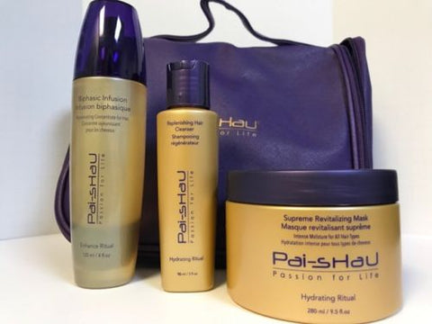 Pai Shau Replenishing Cleanser, Supreme Mask, & Biphasic Infusion Wet Line Trio