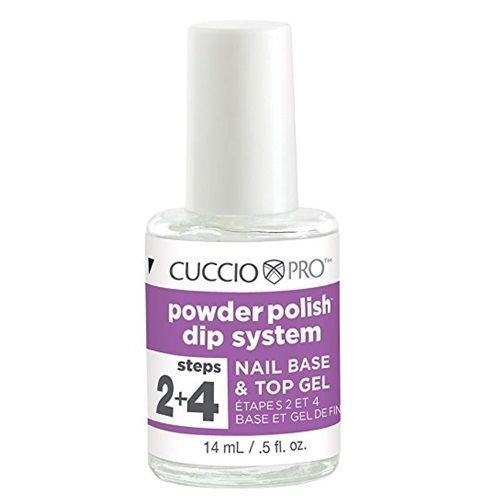 CUCCIO Pro Powder Polish Dip Nail Gels .5 oz Nail Base & Top Gel Step 2 + 4