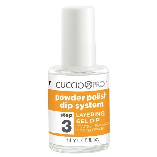 CUCCIO Pro Powder Polish Dip Nail Gels .5 oz Layering Gel Dip Step 3
