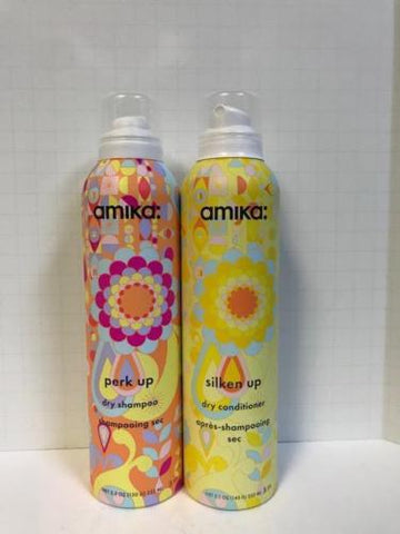 Amika Perk Up Dry Shampoo & Silken Up Dry Conditioner - 5.1oz DUO