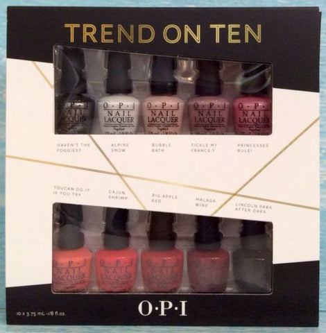 OPI TREND ON TEN  10PC MINI NAIL POLISH SET