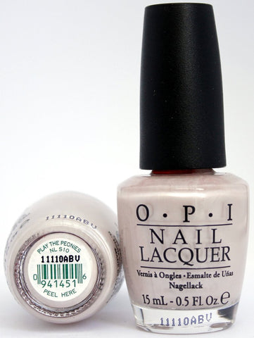 OPI Discontinue Color Nail Polish Play the Peonies NL S10 nl1