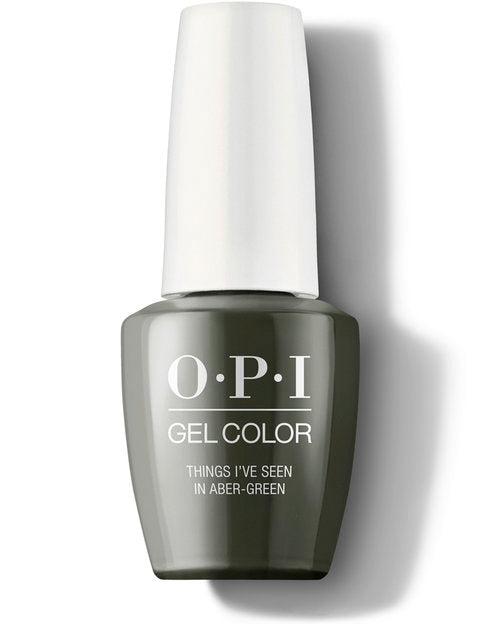 Opi gel color gel polish Scotland collection Things I've Seen in Aber-green GCU15