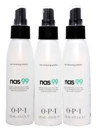 OPI NAS 99 120 mL/4 oz Nail Cleanser Lot of 3 bottles