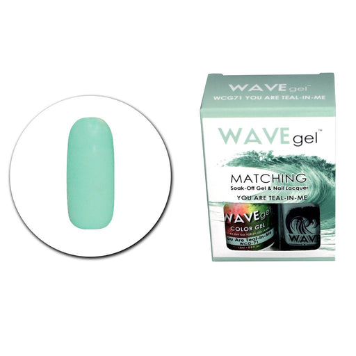 Wave Gel Matching Soak Off Gel Polish YOU ARE TEAL N' MEW CG71 (W71)