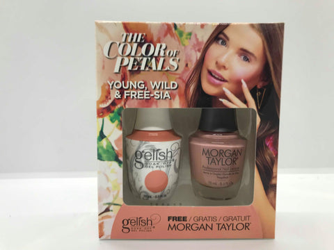 GELISH Gel Polish Nail Lacquer Duo The Color of Petals Young, Wild & Free-sia 1110343
