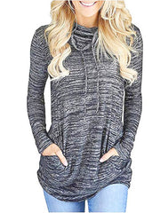 Cowl Neck Long Sleeve Shirt