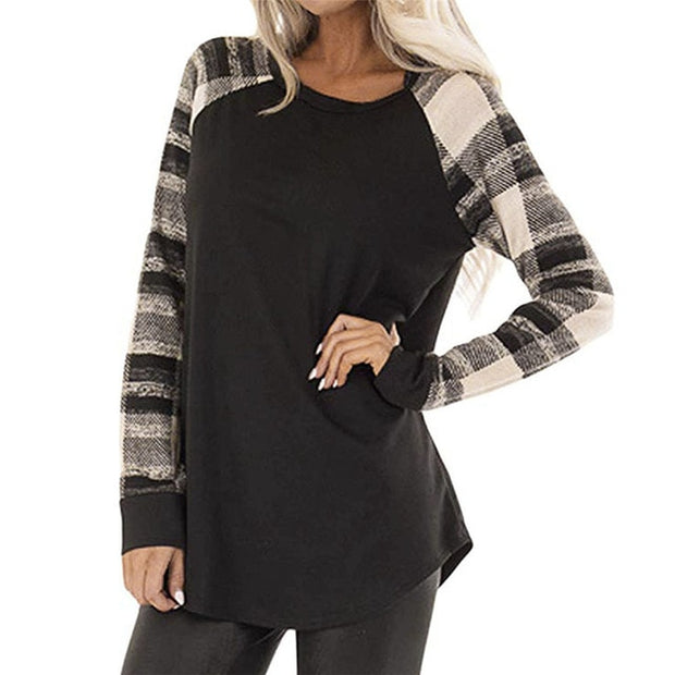 Patchwork Casual Tops Shirt