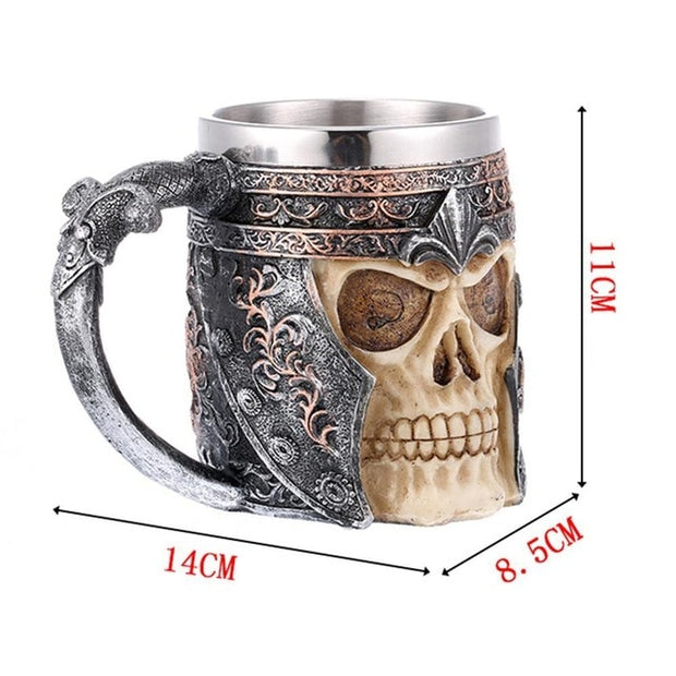 Unique Rustic Crude Metal & Wood Mug