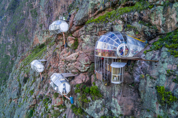 Glass Sleeping Pods in the Sacred Valley
