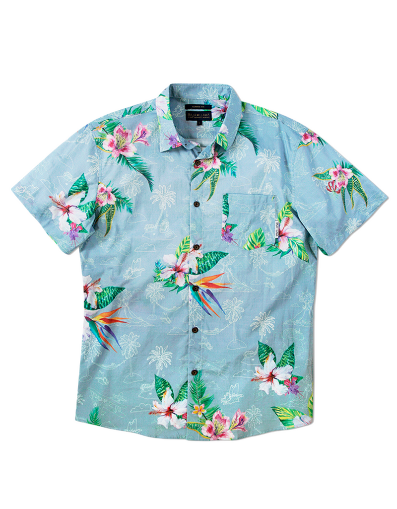 Tropical Radness Jungle - Blue/Green