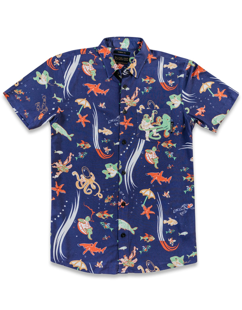 Dive School - Deep Purple Button Up