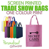 Screen Printed Trade Show Bags - ONE COLOUR (Minimum QTY 50)