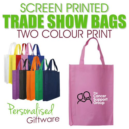 Screen Printed Trade Show Bags - TWO COLOUR (Minimum QTY 50)