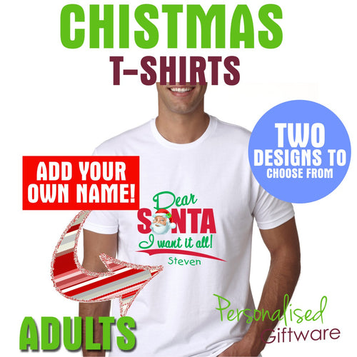 Personalized Christmas T-Shirts - Adults