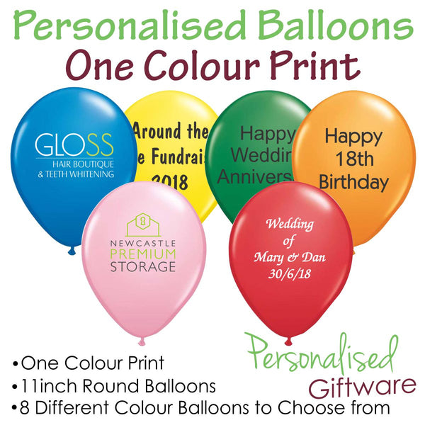 Personalised Printed Balloons