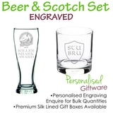 Beer and Scotch Glass Set