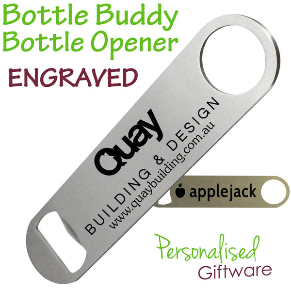 Engraved Stainless Steel Bottle Buddy Opener