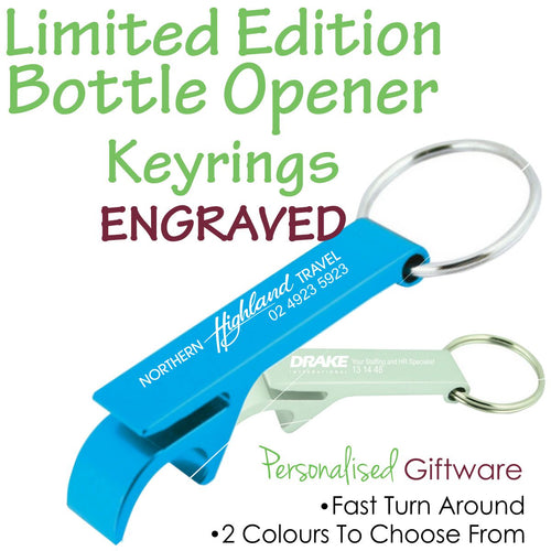 Limited Editon Metal Bottle Opener Keyrings