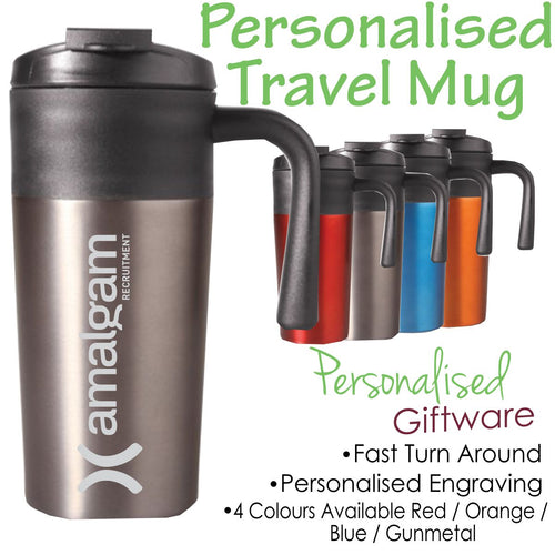 Personalised Coloured Travel Mug