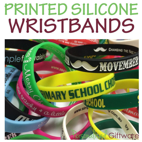 2,500 Printed Silicone Wristbands