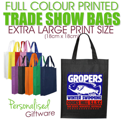 Full Colour Printed Trade Show Bags - EXTRA LARGE SIZED PRINT