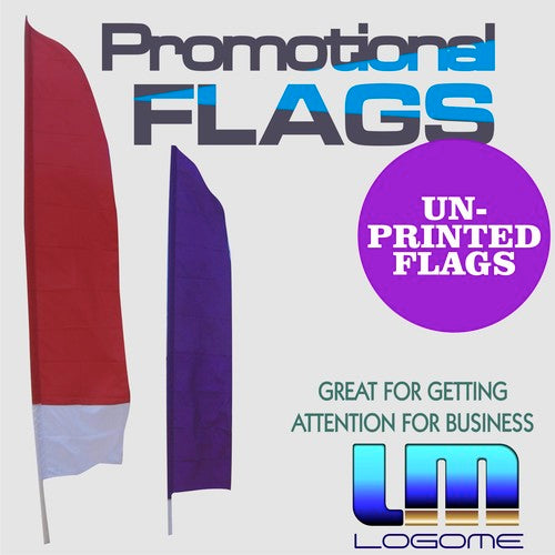 Printed Promotional Flag - Un-Printed No Kit